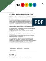Estilos de Personalidad DISC