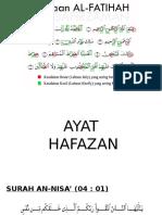 Hafazan - AYAT PILIHAN