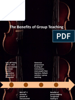 Benefits of Group Teaching