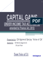 Capital Gains Under Income Tax Act