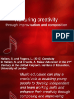Nurturing Creativity Through Improvisation and Composition