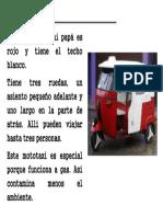 Modelo de Descripción Mototaxi