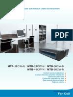 Aire Acondicionado Tipo Split Fan Coil Expansion Directa Midea MTB