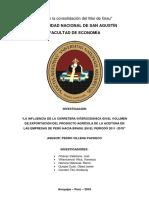 Investigación Económica - Exportacion de Aceituna Perú-Brasil Vía Carretera Interoceánica 2011-2015