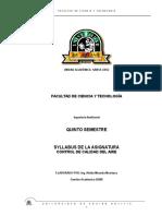 Syllabus Control de Calidad Del Aire (2)