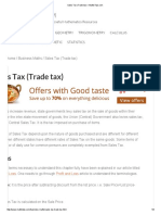 Sales Tax (Trade Tax) – MathsTips