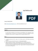 Asif Bio Data