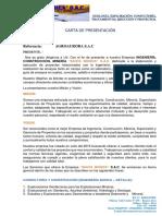 Modelo de Carta de Presentacion