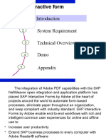 Adobe Interactive Form