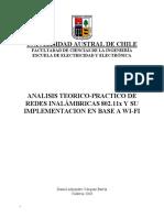 Analisis Teorico-Practico de Redes Inalambricas 802.11x y Su Implementacion en Base a WI-FI