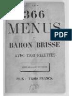 366 Menus Du Baron Brisse - 1868
