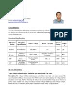 Resume 4 Phd Teaching
