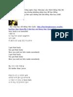 Tiếng Hàn Qua Bài Hát Teayang - Body