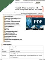 Strategy_ RBI Grade _B_ Officer-2016 by RBI Topper Manojkumar E