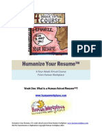Humanize Your Resume
