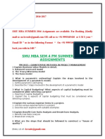 Smu Mba Sem 4 Pm Summer 2016 Assignments