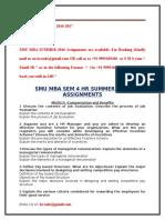 Smu Mba Sem 4 Hr Summer 2016 Assignments