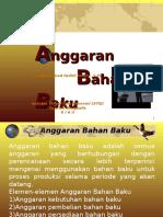III. Anggaran Bahan Baku