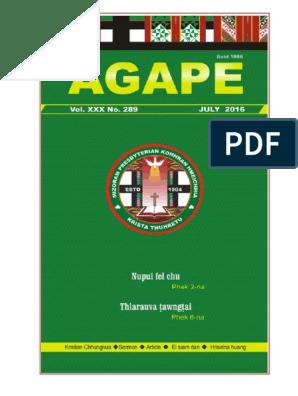 Agape - July, 2016