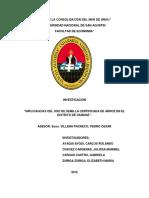 """""""IMPLICANCIAS DEL USO DE SEMILLA CERTIFICADA DE ARROZ EN EL DISTRITO DE CAMANÁ 2016."""""""