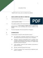 HowtosetupaCooperativeSocietyModel Bylaws Credit