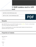 Compare AISI 304H Stainless Steel to AISI 316 Stainless Steel
