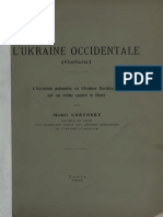 L'UKRAINE OCCIDENTALE (Galicie). L'invasion polonaise en Ukraine Occidentale est un crime contre le Droit