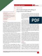Electrophysiological Profiling of Depression in the Elderly