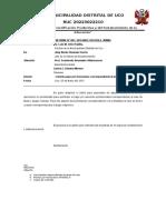 Municipalidad Distrital de Uco Informe