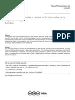 La mort du Christ dans les « Leçons sur la philosophie de la religion » de Hegel