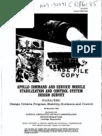 Apollo Command and Service Module Stabilization and Control System Design Survey