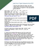 Pembahasan Olimpiade Kimia Tingkat Kabupaten tahun 2013.docx