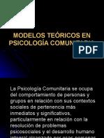 Modelos Teoricos en Psicologia Comunitar