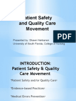 patient safety   quality care movement-leadership abridged for data