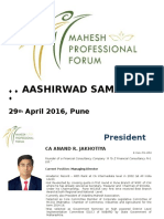 presentation ashirwad samaroh 2016