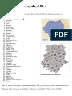 Listă de comune din județul Ilfov - Wikipedia