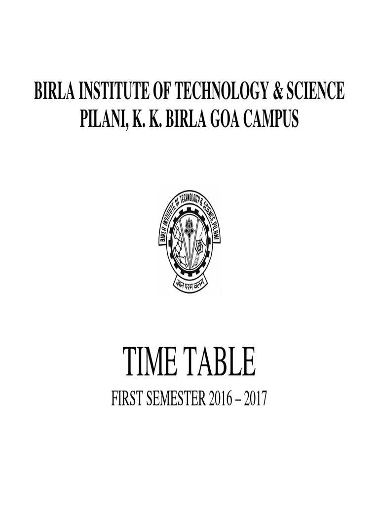 time table first semester 2016 17 26 july 2016 science and
