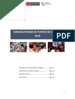 Bases Convocatorias Para Puntos de Cultura 2016