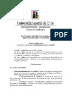Malla Curricular Doctorado Cs. Humanas