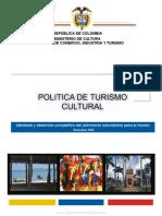 Politica de Turismo Cultural Colombia