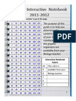 Biology Interactive Notebook 2011-2012