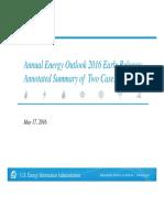 Annual Energy Outlook 2016 - US Engery