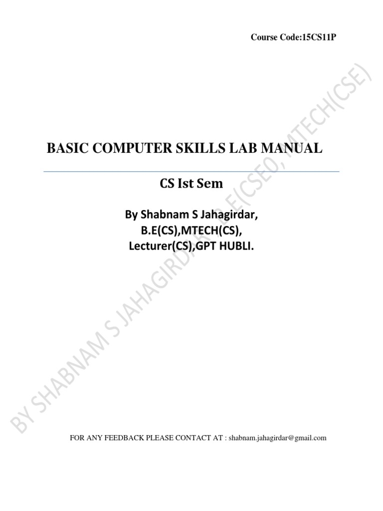 Bcs Lab New Syllabus Manual 15CS11P Bios – Electron Configuration Worksheet and Lots More Answers