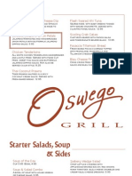 Oswego Grill Core Menu 366..
