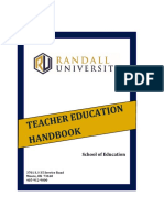 School of Education Handbook 2016