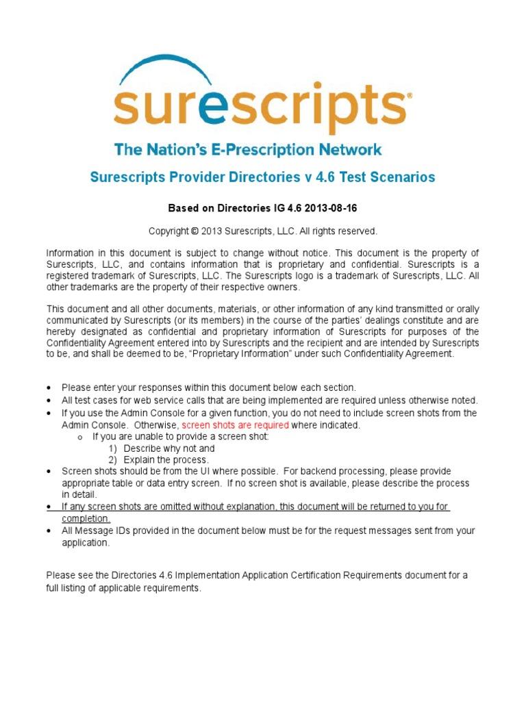 Provider directories v46 certification test scenarios 2013 v 10 provider directories v46 certification test scenarios 2013 v 10 web service databases xflitez Gallery