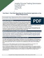 Fact Sheet – Final Rule Regarding the Cross-Border Application of the Margin Requirements