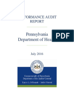 Performance Audit_PA Department of Health Nursing Homes