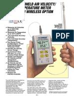 Air Velocity Meters