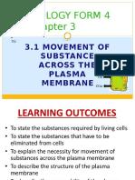 Chapter 3 - 3.1 Movement of Substances Across Plasma Membrane